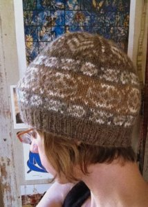 One of Elizabeth Johnston's beautiful handspun hats that I am smitten to call my very own.