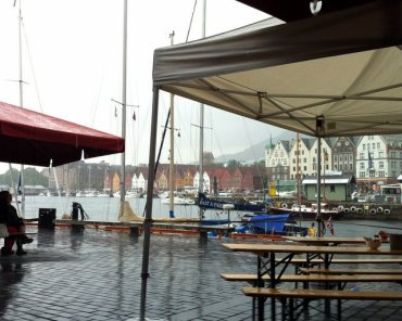 Looking towards Bryggen from the Fish Market